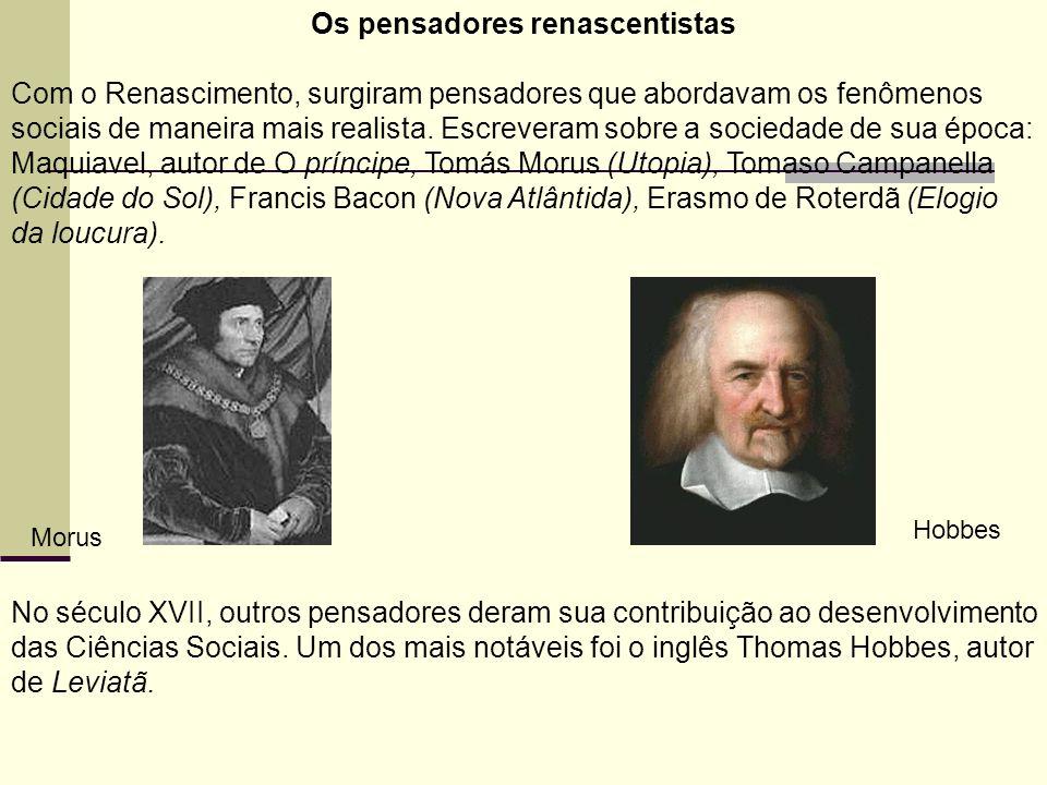 Os pensadores renascentistas