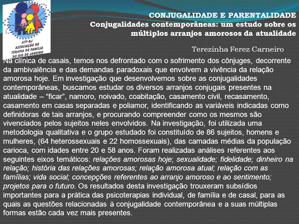 CONJUGALIDADE E PARENTALIDADE