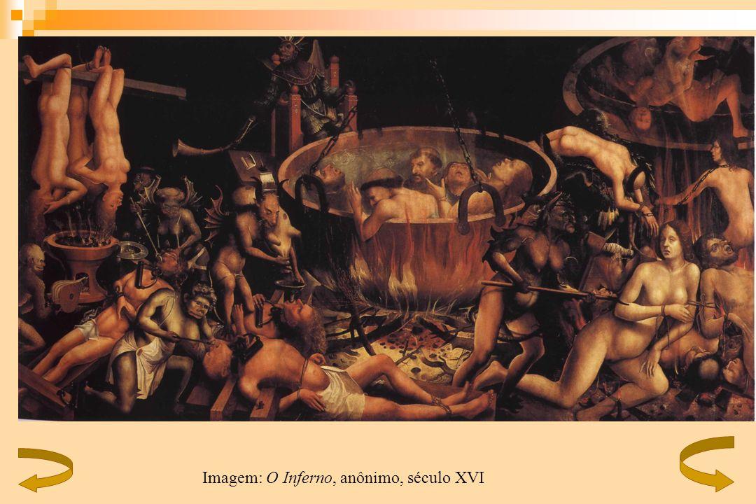 Imagem: O Inferno, anônimo, século XVI