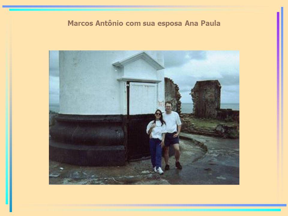 Marcos Antônio com sua esposa Ana Paula