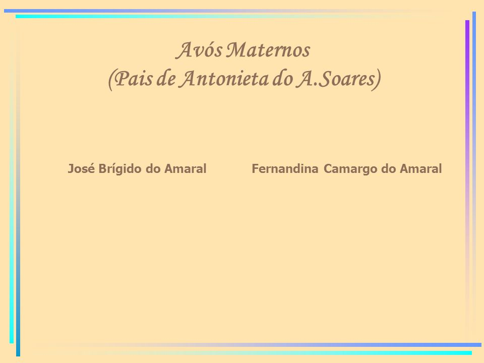 Avós Maternos (Pais de Antonieta do A.Soares)