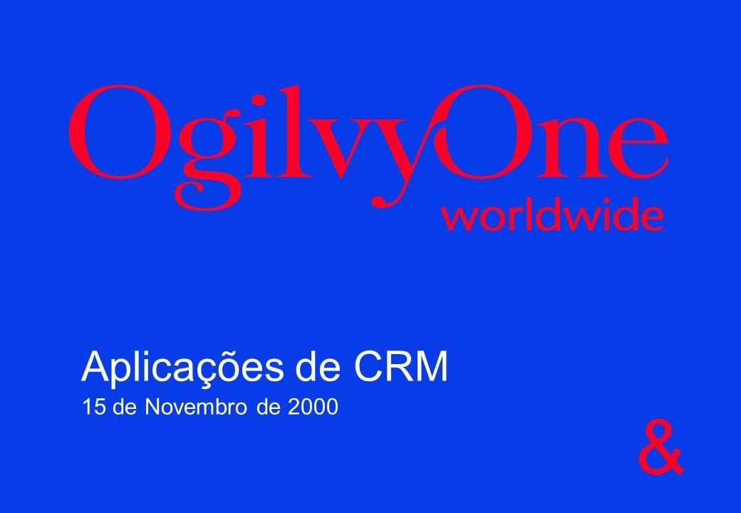 Aplicações de CRM 15 de Novembro de 2000