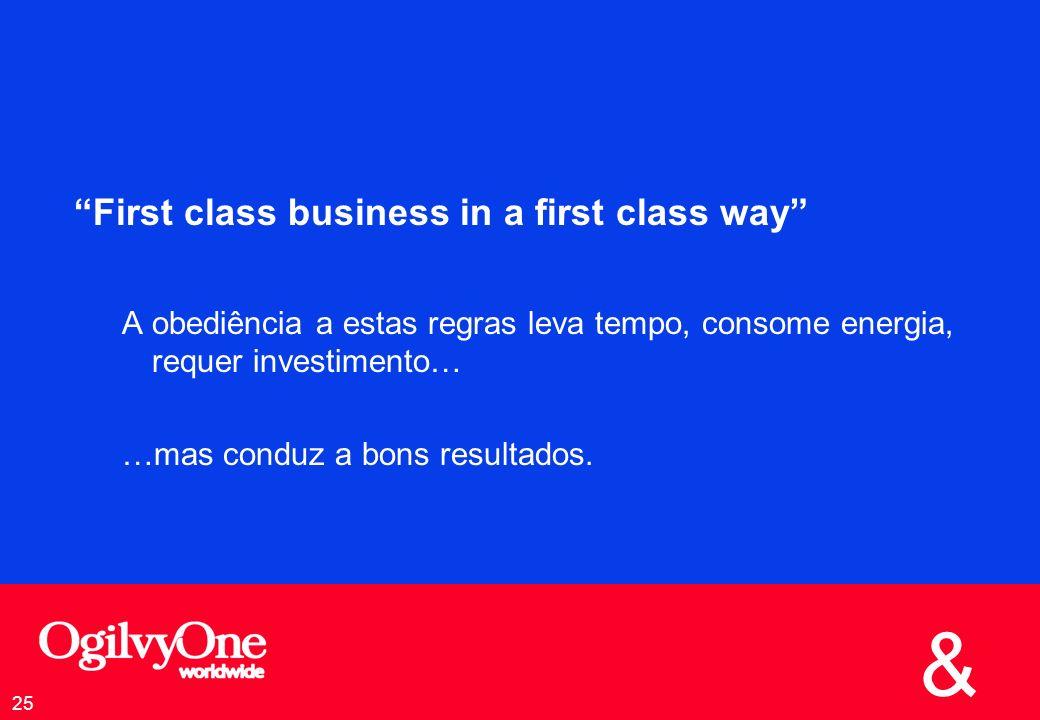 First class business in a first class way