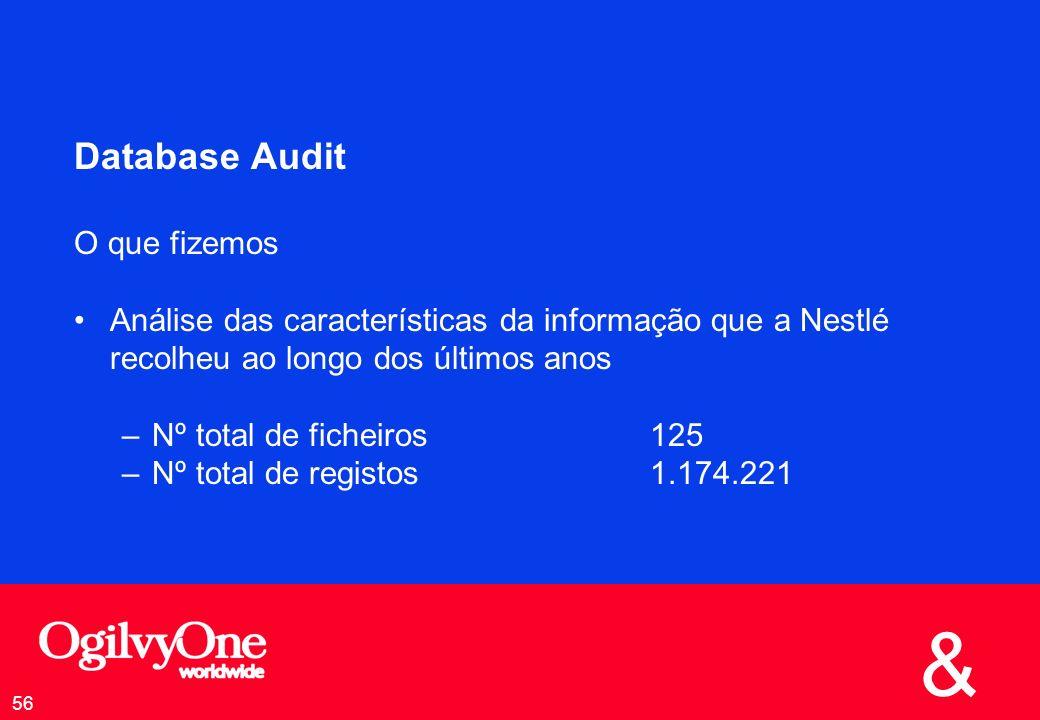 Database Audit O que fizemos
