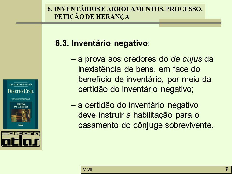 6.3. Inventário negativo: