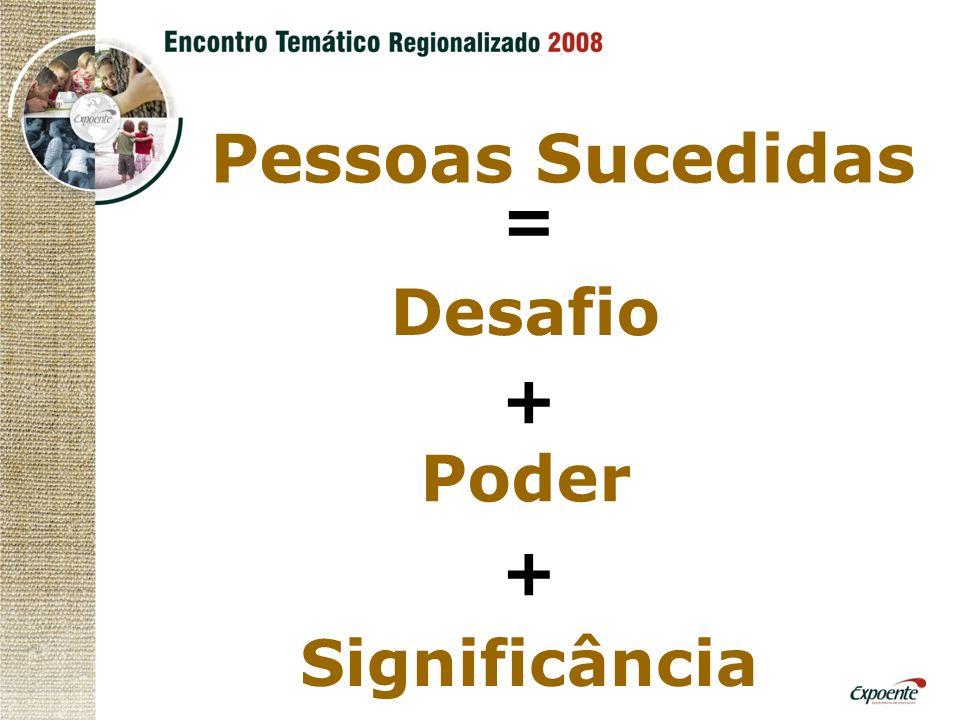 Pessoas Sucedidas = Desafio + Poder + Significância
