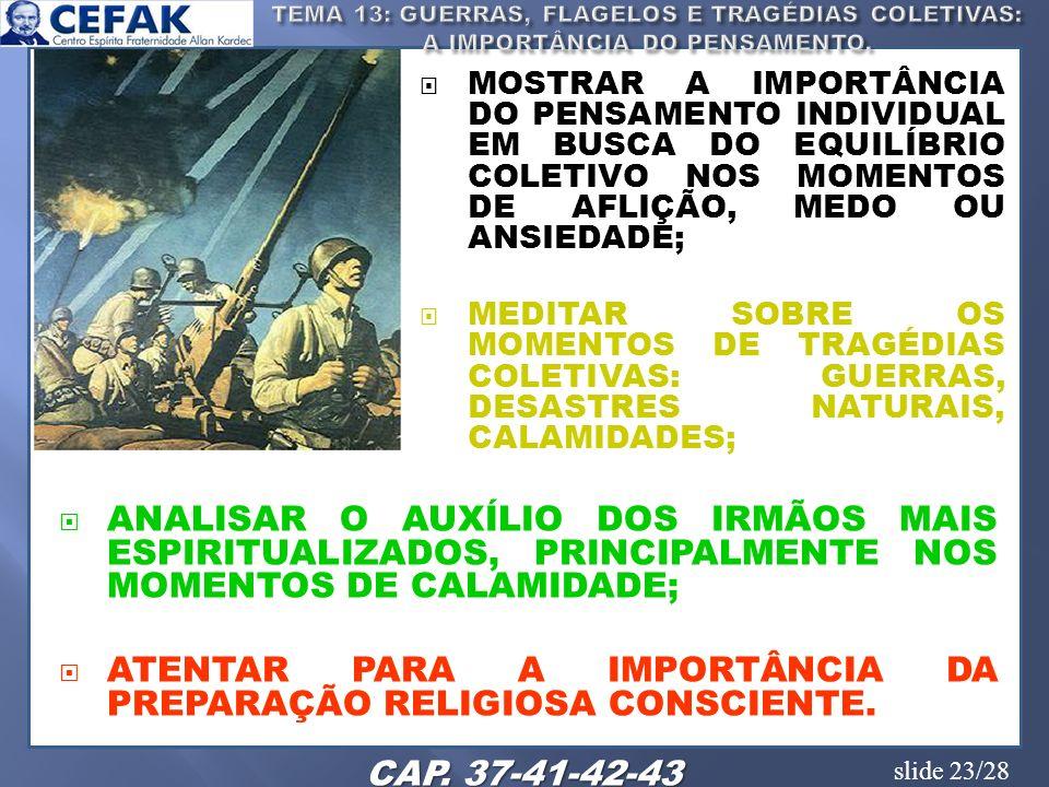 ATENTAR PARA A IMPORTÂNCIA DA PREPARAÇÃO RELIGIOSA CONSCIENTE.