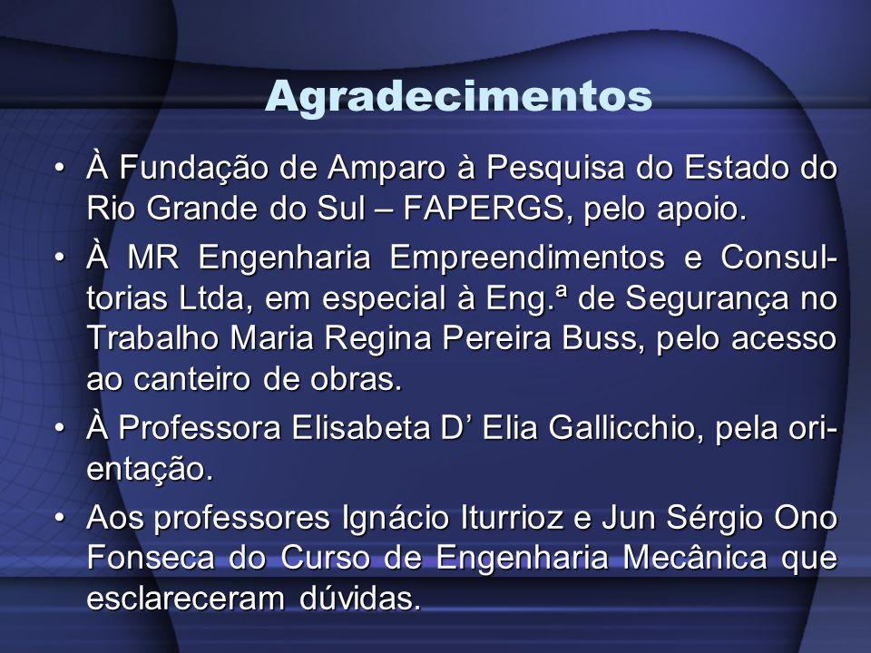 Agradecimentos À Fundação de Amparo à Pesquisa do Estado do Rio Grande do Sul – FAPERGS, pelo apoio.