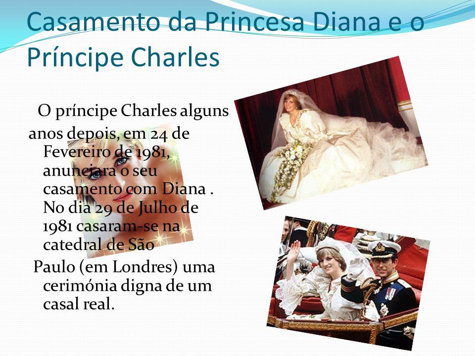 Casamento da Princesa Diana e o Príncipe Charles
