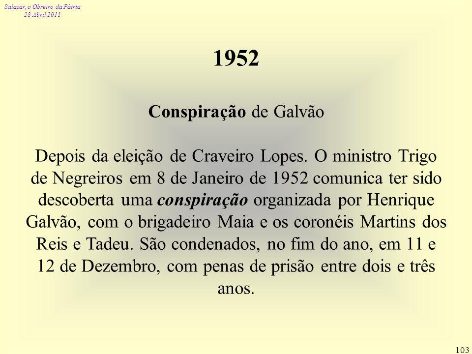 1952 Conspiração de Galvão.