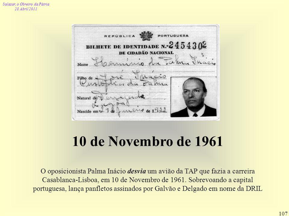 10 de Novembro de 1961