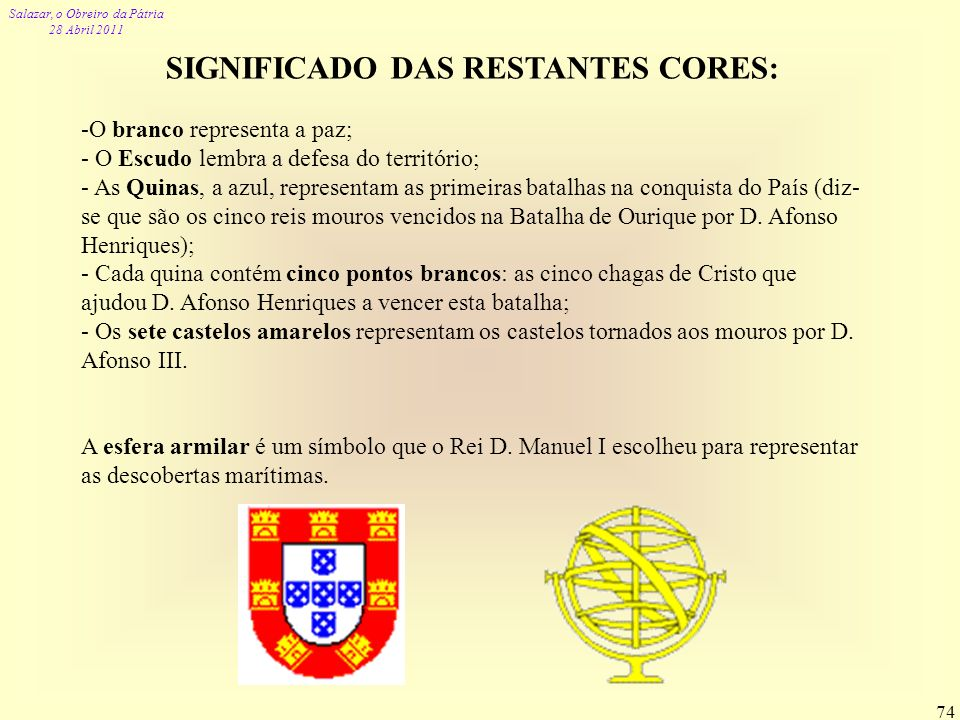 SIGNIFICADO DAS RESTANTES CORES: