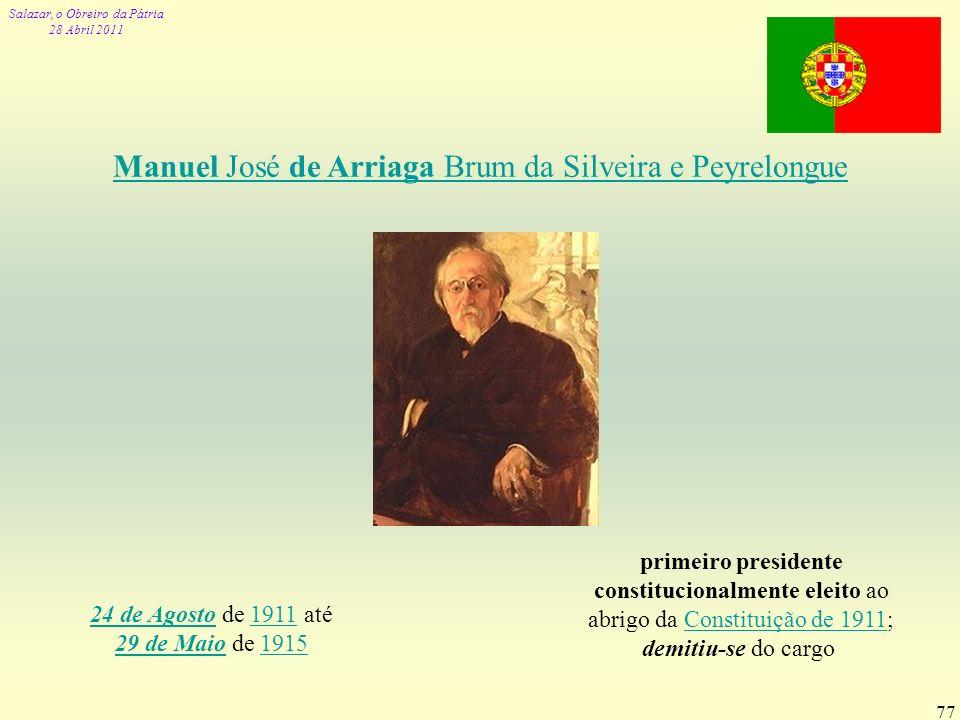 Manuel José de Arriaga Brum da Silveira e Peyrelongue