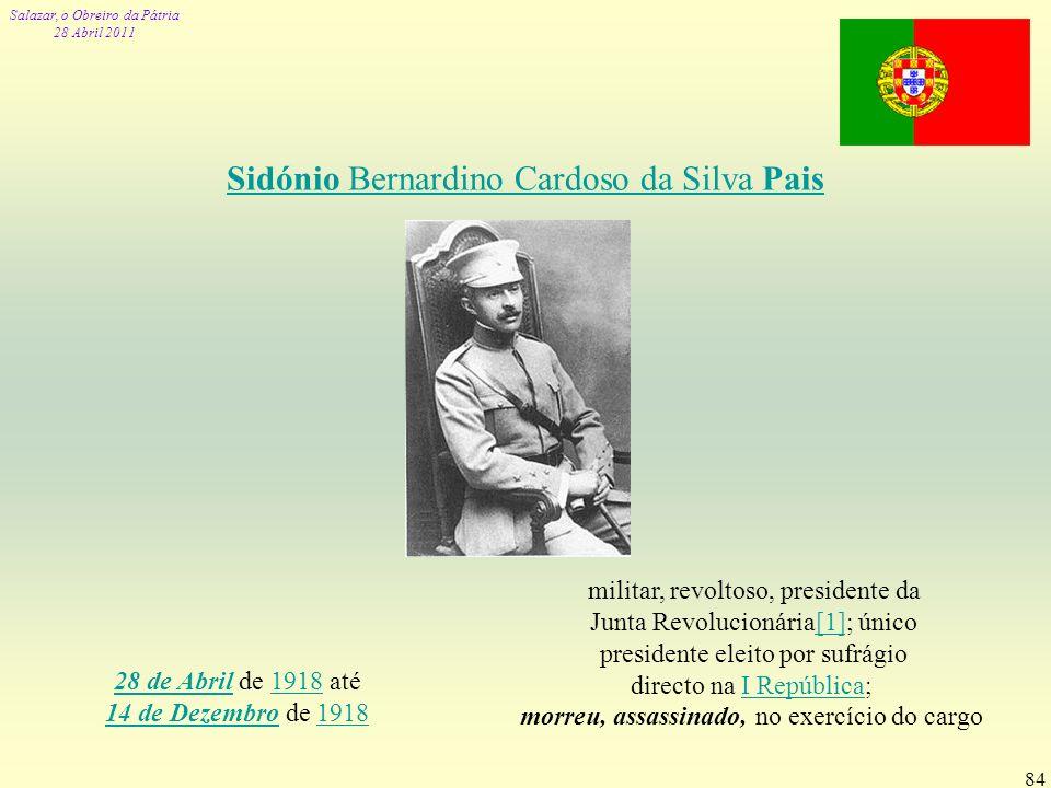 Sidónio Bernardino Cardoso da Silva Pais