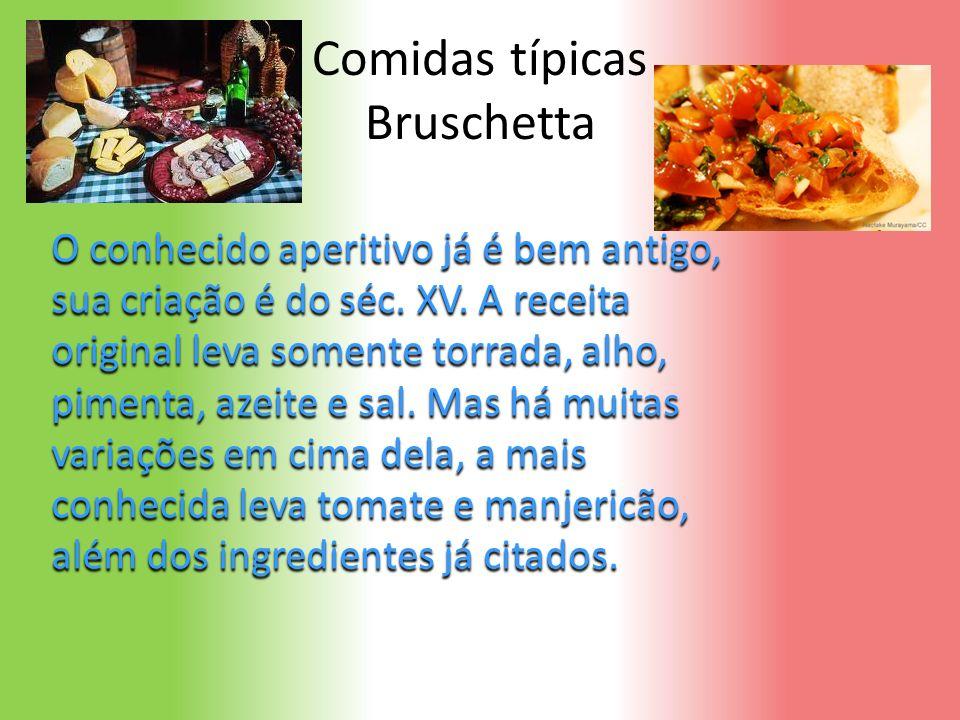 Comidas típicas Bruschetta
