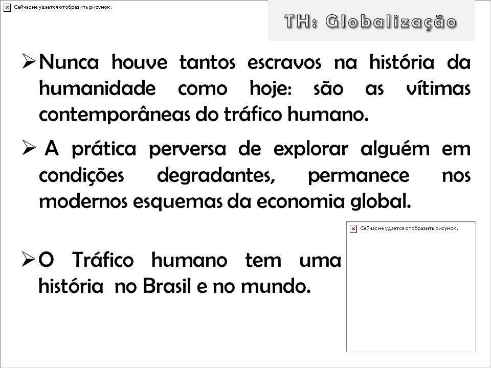 O Tráfico humano tem uma história no Brasil e no mundo.