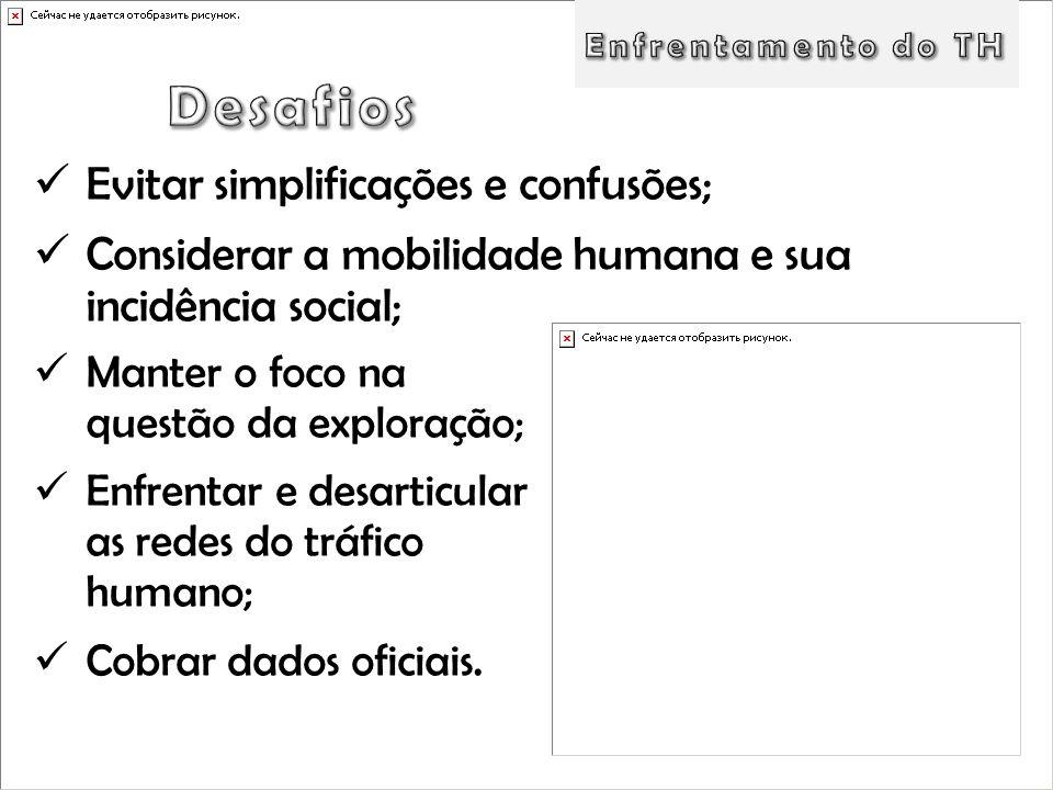 Desafios Evitar simplificações e confusões;