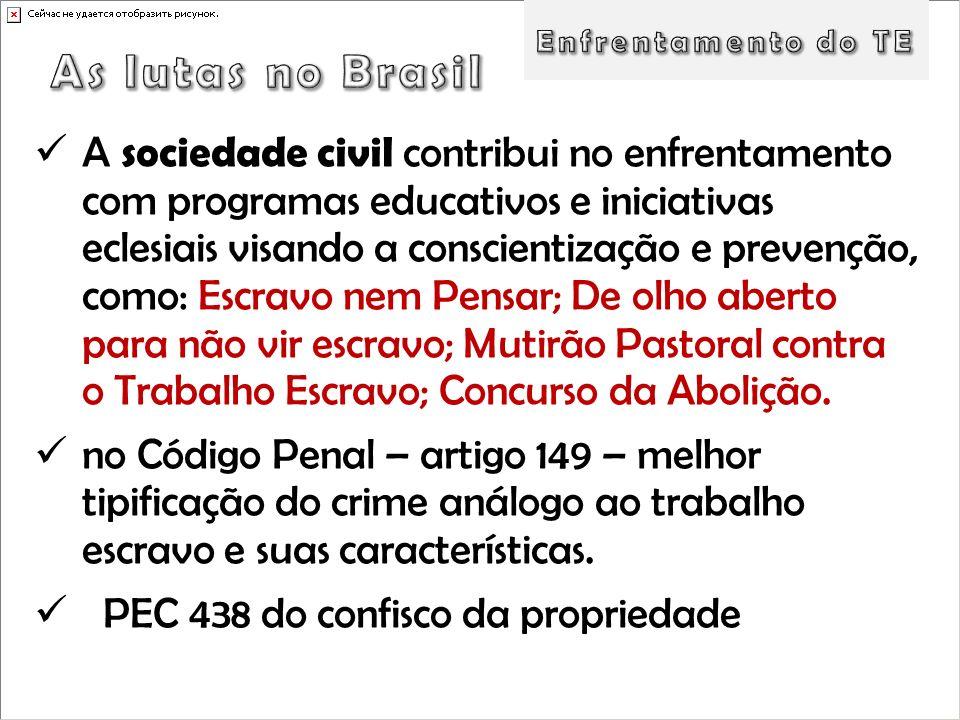 Enfrentamento do TE As lutas no Brasil.