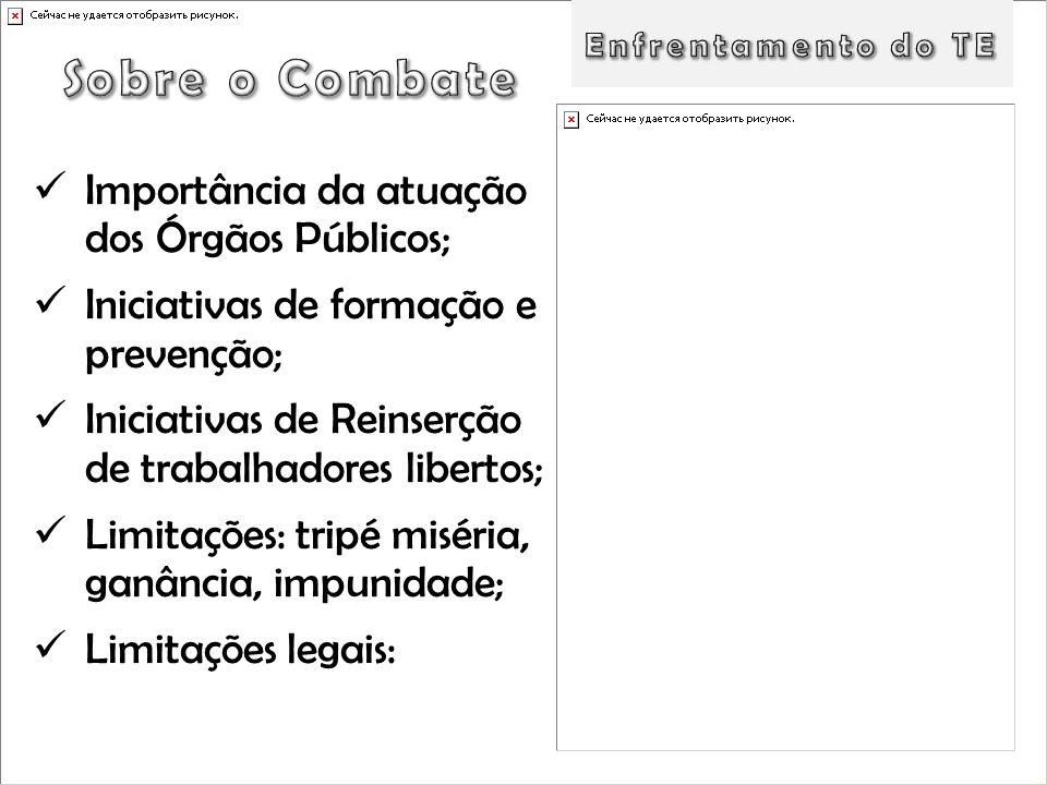 Sobre o Combate Importância da atuação dos Órgãos Públicos;