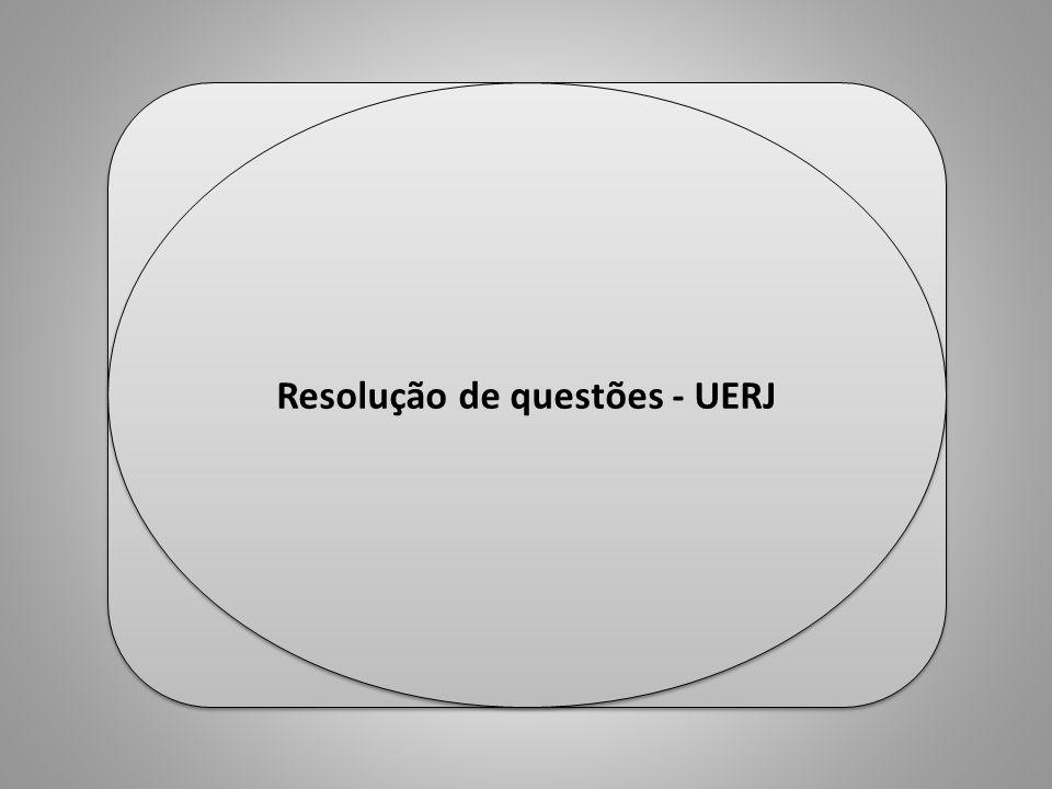 Resolução de questões - UERJ Professor Ulisses Mauro Lima