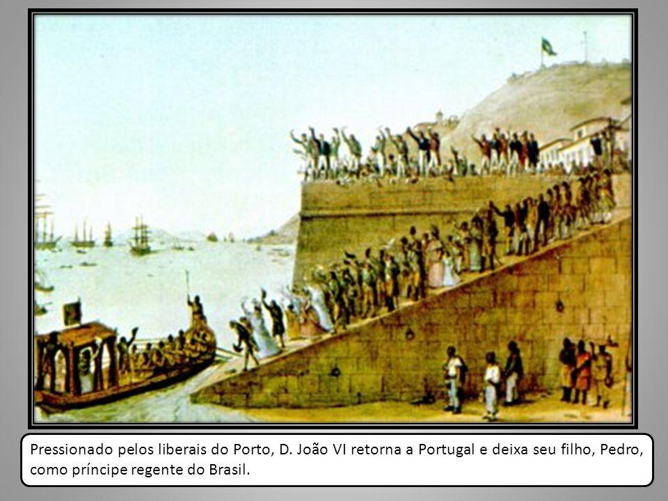 Pressionado pelos liberais do Porto, D