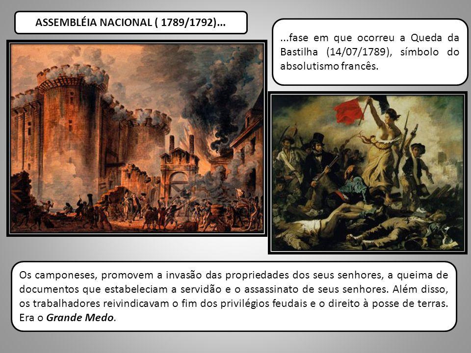 ASSEMBLÉIA NACIONAL ( 1789/1792)...