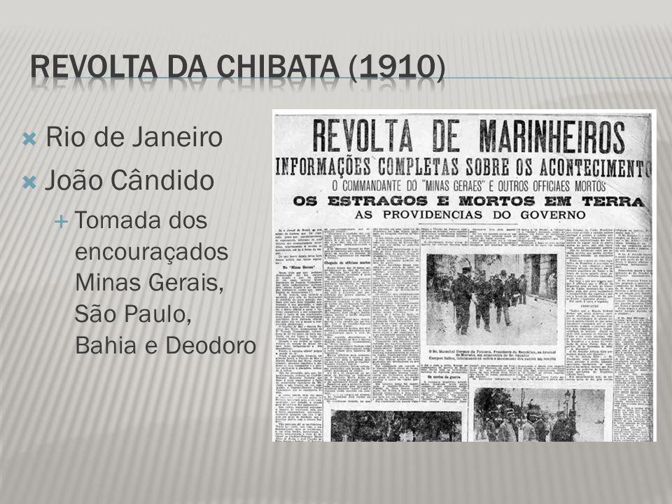 Revolta da Chibata (1910) Rio de Janeiro João Cândido