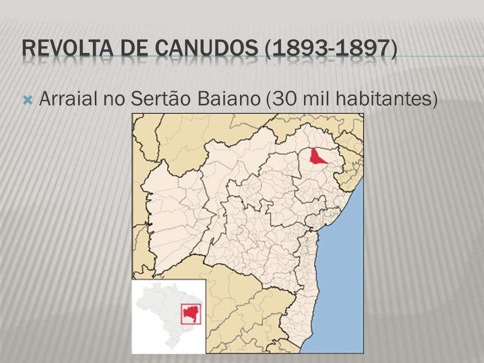 Revolta de Canudos (1893-1897) Arraial no Sertão Baiano (30 mil habitantes)