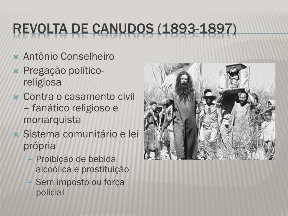Revolta de Canudos (1893-1897) Antônio Conselheiro