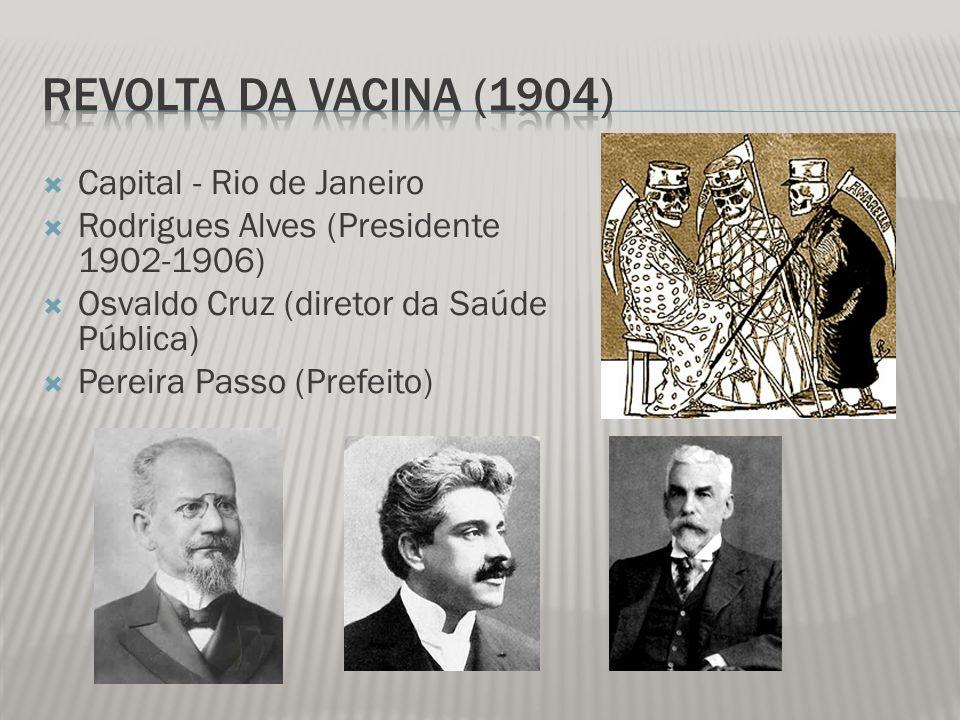 Revolta da Vacina (1904) Capital - Rio de Janeiro