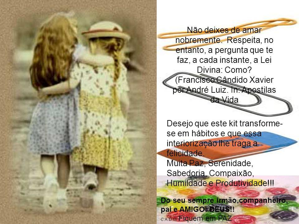 (Francisco Cândido Xavier por André Luiz. In: Apostilas da Vida