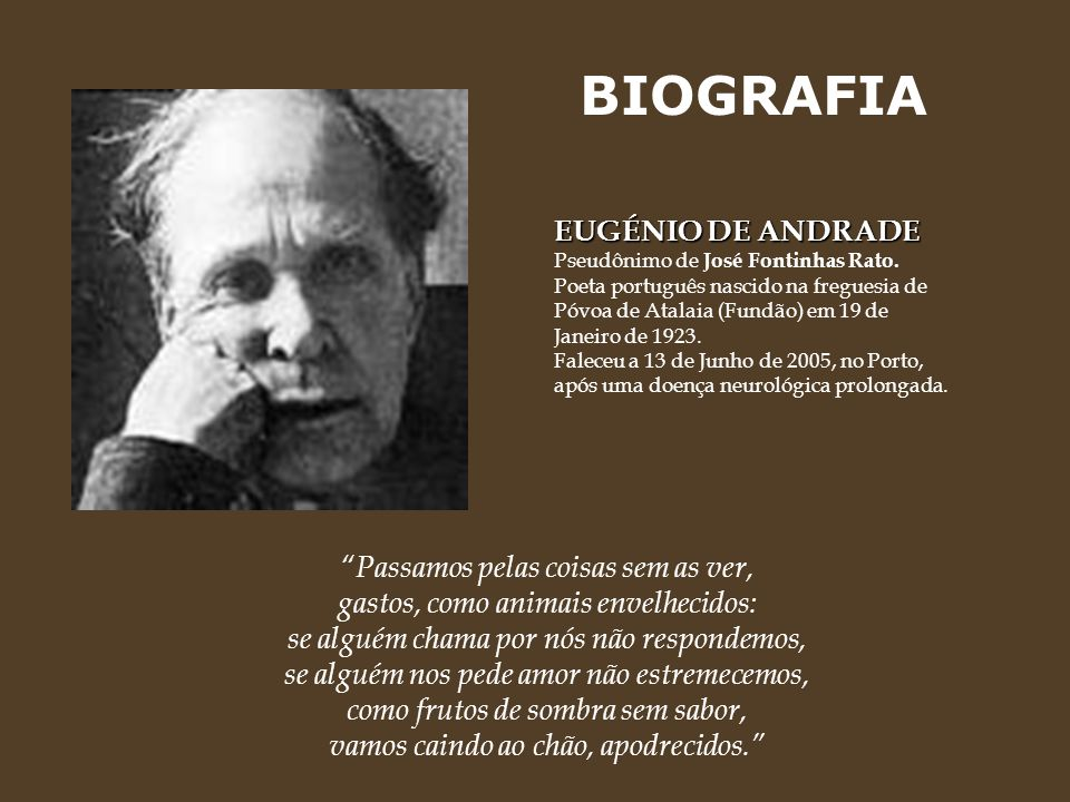 BIOGRAFIA EUGÉNIO DE ANDRADE
