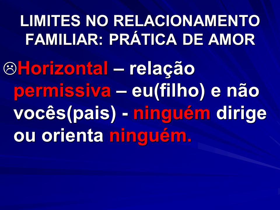 LIMITES NO RELACIONAMENTO FAMILIAR: PRÁTICA DE AMOR