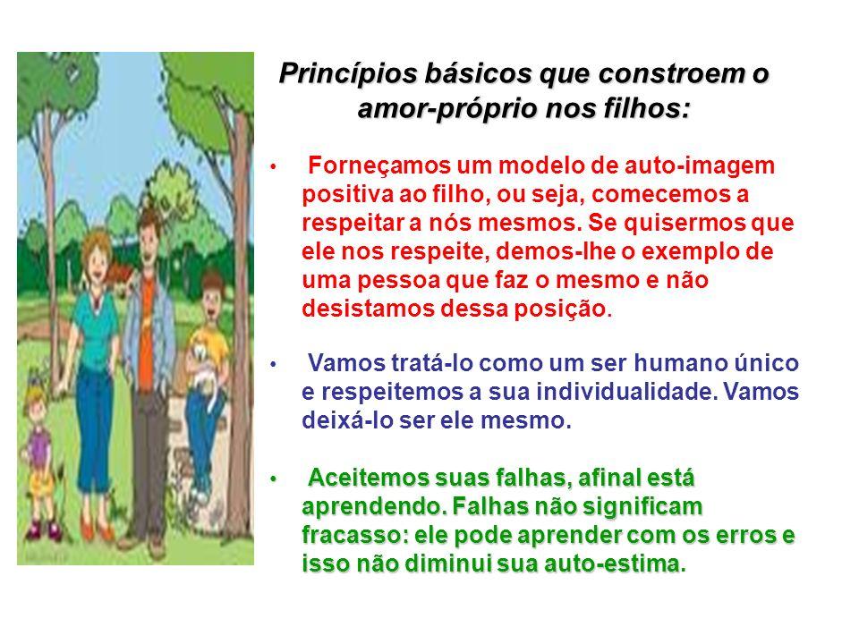 Princípios básicos que constroem o amor-próprio nos filhos: