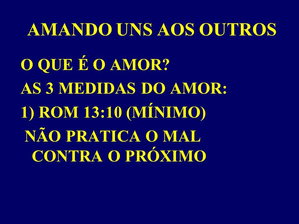 AMANDO UNS AOS OUTROS O QUE É O AMOR AS 3 MEDIDAS DO AMOR: