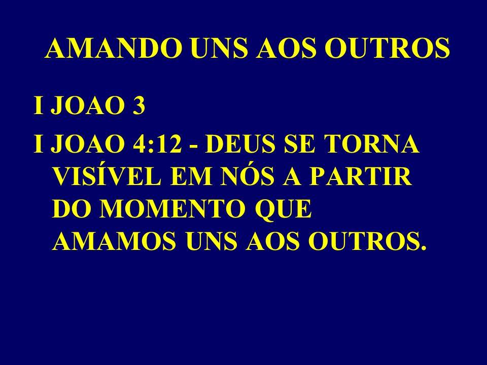 AMANDO UNS AOS OUTROS I JOAO 3