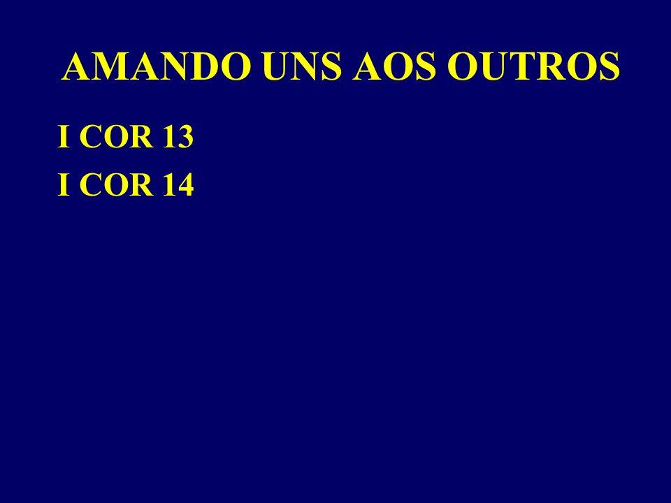 AMANDO UNS AOS OUTROS I COR 13 I COR 14