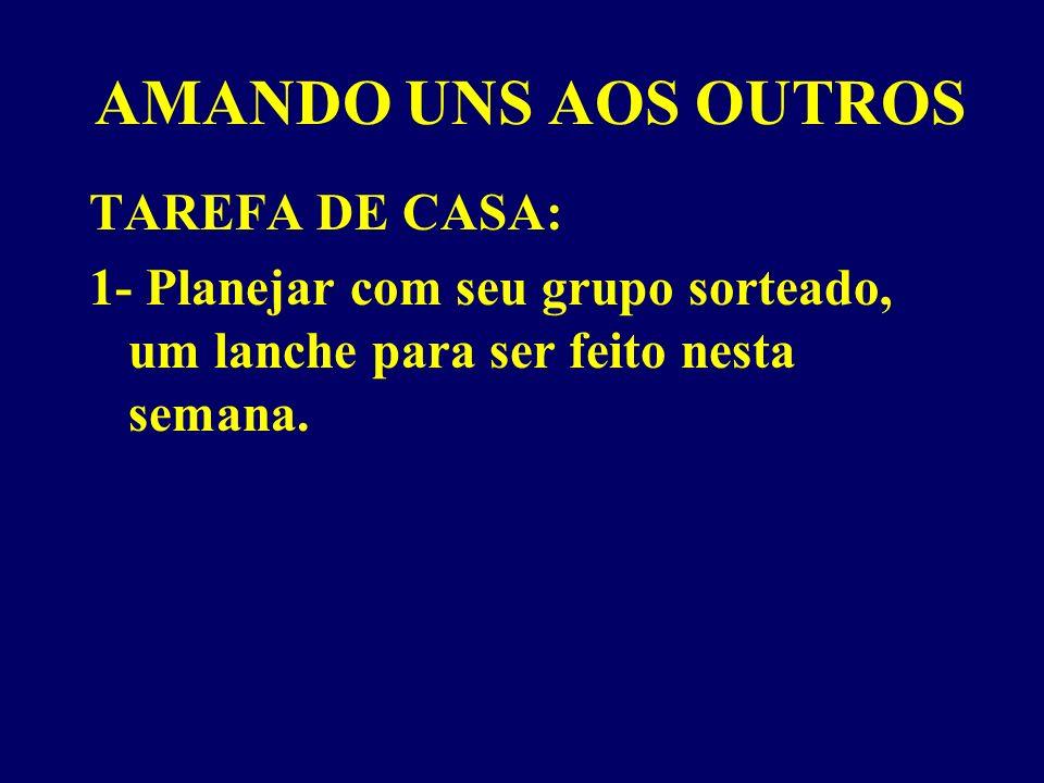 AMANDO UNS AOS OUTROS TAREFA DE CASA:
