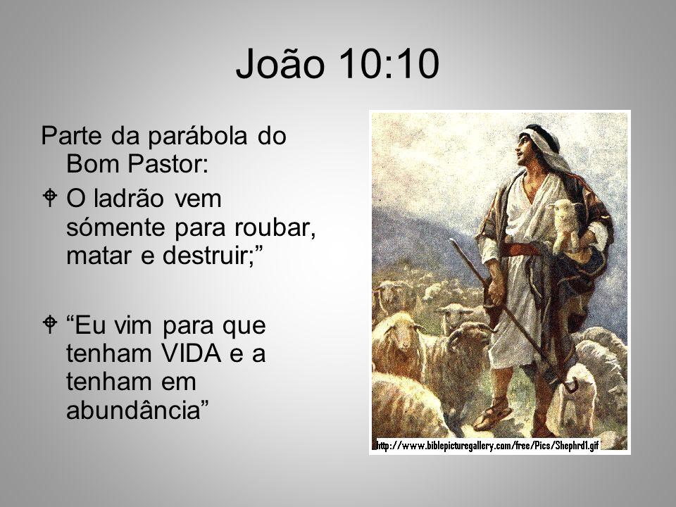 João 10:10 Parte da parábola do Bom Pastor: