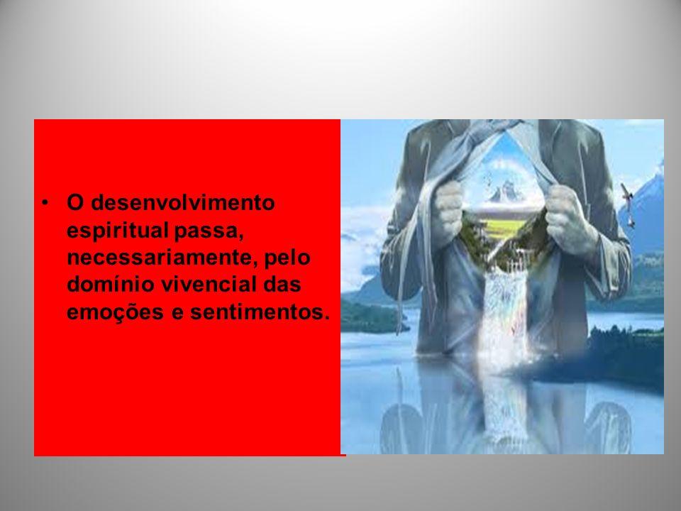 O desenvolvimento espiritual passa, necessariamente, pelo domínio vivencial das emoções e sentimentos.