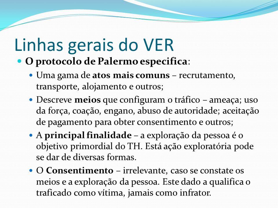 Linhas gerais do VER O protocolo de Palermo especifica: