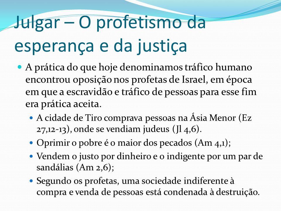 Julgar – O profetismo da esperança e da justiça