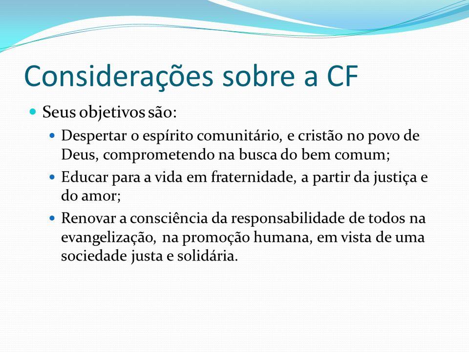 Considerações sobre a CF