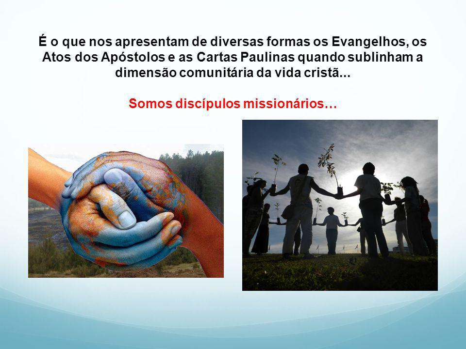 É o que nos apresentam de diversas formas os Evangelhos, os Atos dos Apóstolos e as Cartas Paulinas quando sublinham a dimensão comunitária da vida cristã...