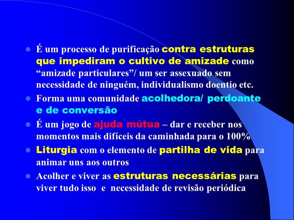 É um processo de purificação contra estruturas que impediram o cultivo de amizade como amizade particulares / um ser assexuado sem necessidade de ninguém, individualismo doentio etc.