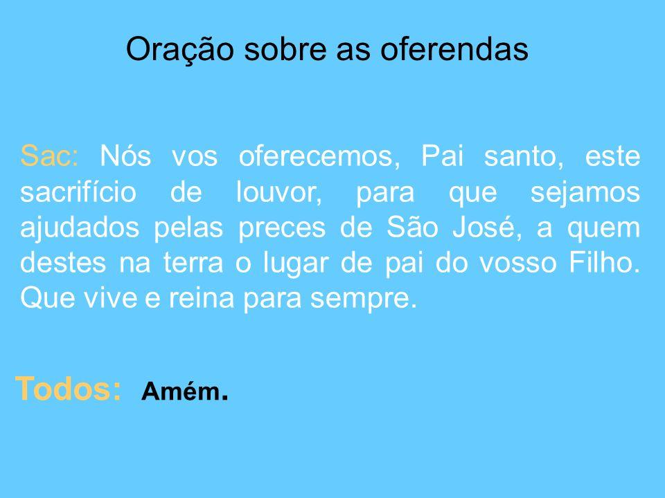 Oração sobre as oferendas