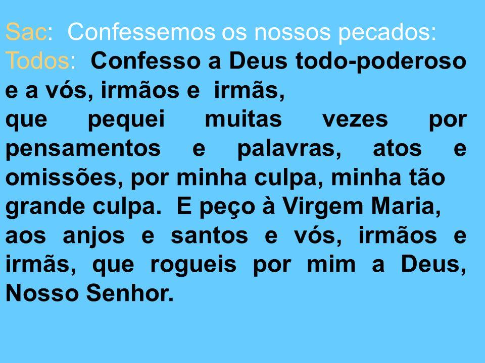 Sac: Confessemos os nossos pecados: