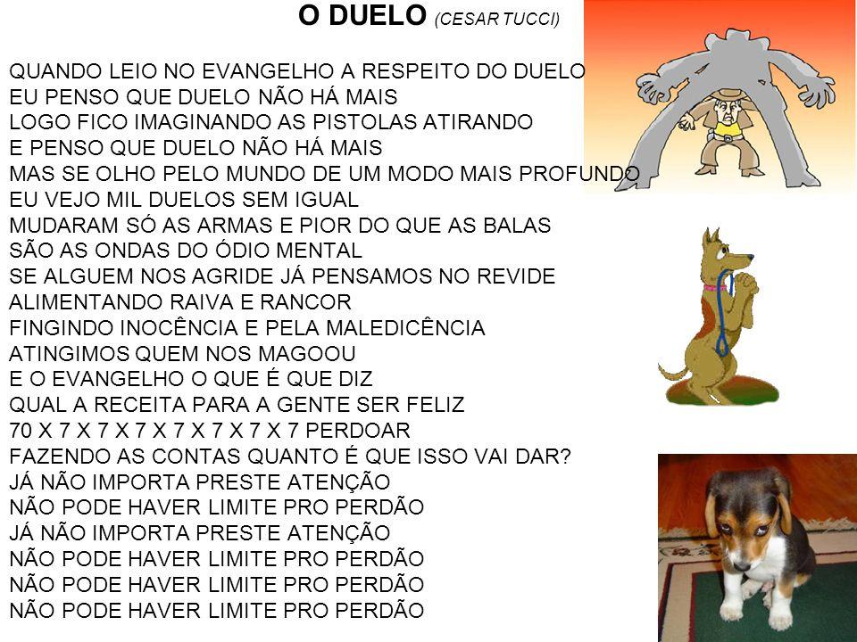 O DUELO (CESAR TUCCI) QUANDO LEIO NO EVANGELHO A RESPEITO DO DUELO
