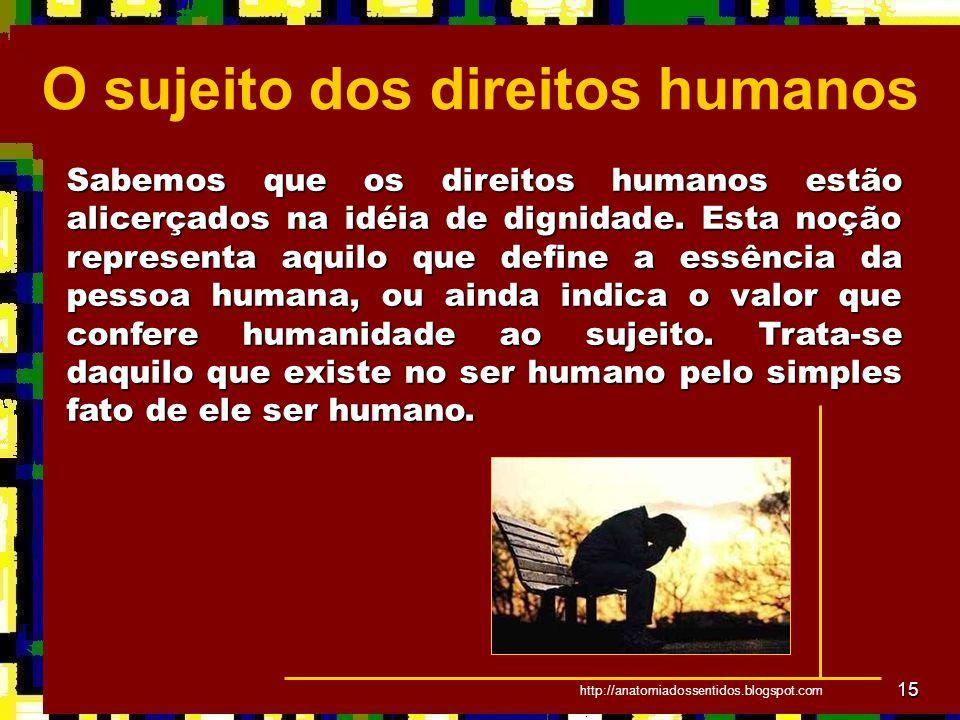 O sujeito dos direitos humanos