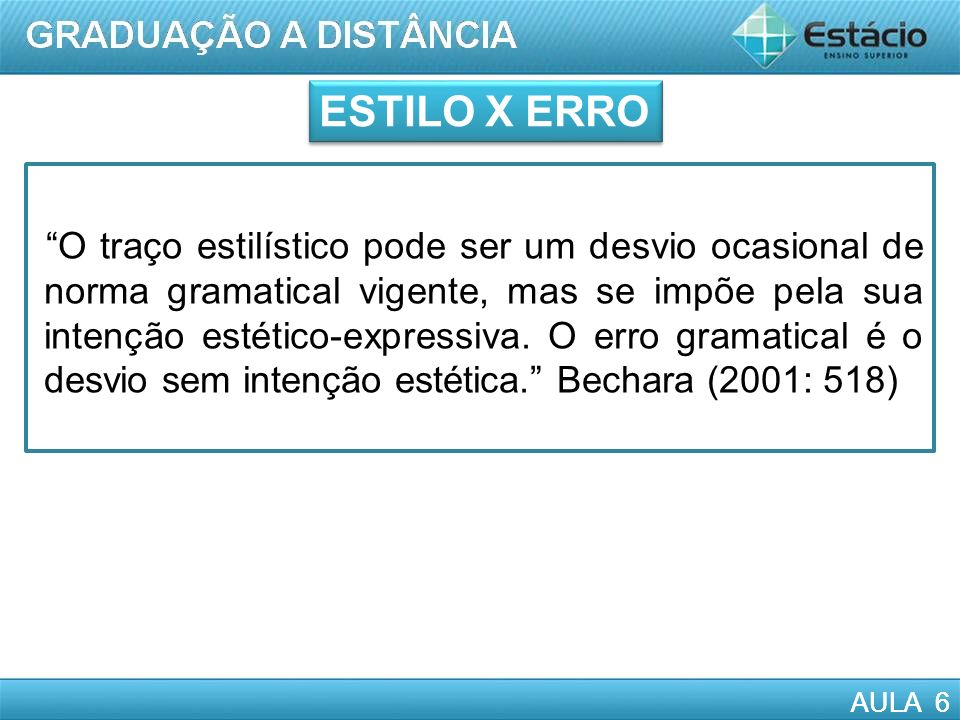 ESTILO X ERRO